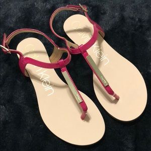 Calvin klein- pink leather sandal